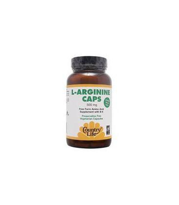 Country Life - L-Arginine Caps, 500 mg, 100 capsules