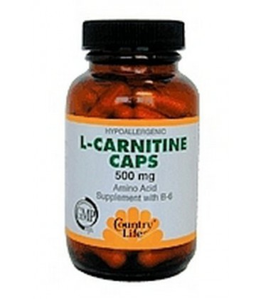 Country Life Acetyl L-Carnitine Vegi Capsules 500mg, 60 Caps