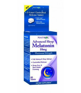 Natrol Advanced Sleep Melatonin , 10 mg, 60 Tablets