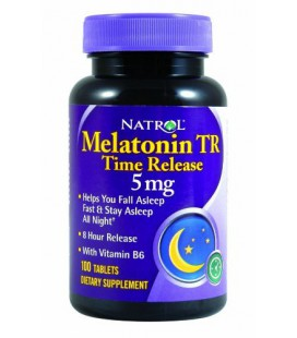 Melatonin 5 mg Time Release by Natrol 100 Tablets (Pack of 2)