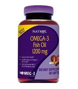 Omega-3 Fish Oil 1200 mg 60 Soft Gels 60 Softgels