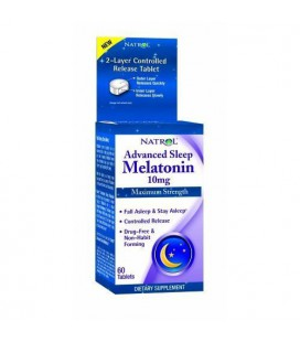 Advanced Sleep Melatonin, Maximum Strength, 10 mg, 60 Tablets ( Multi-Pack)