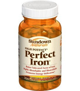 Sundown Perfect Iron, 200 Tablets (Pack of 4)