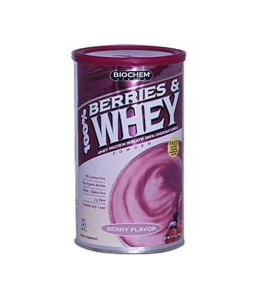 "Biochem 100% Berries and Whey Powder ""berry Flavor"", 11.1-Ou"