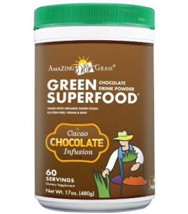 Amazing Grass Chocolate Drink Powder, Green Superfood, 17-Ounce Container