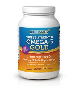 Omega 3 Fish Oil Capsules - Triple Strength Omega 3 GOLD - 1200mg, 180 Softgels (1000mg EPA + DHA)