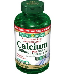 Nature's Bounty Calcium 1200 Mg. Plus Vitamin D3, 200-Count