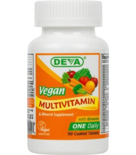 Deva Vegan Vitamins Daily Multivitamin & Mineral Supplement  90 tablets (Pack of 2)