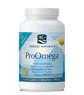 Nordic Naturals ProOmega Lemon Flavor, 1000mg - 180 Softgels