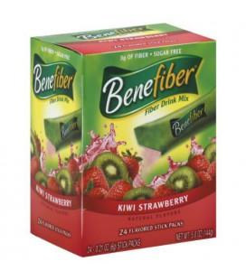 Benefiber Fiber Drink Mix, Kiwi Strawberry 24 - 0.21 oz (6 g) stick packs [5 oz (144 g)]