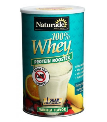 Naturade 100% Whey Protein Booster, Vanilla, 24 Ounces