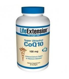 Life Extension Super Ubiquinol Coq10 100 Mg Softgel, 60-Count
