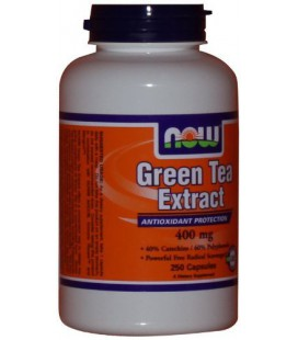 NOW Foods Green Tea Extract, 250 Capsules / 400mg