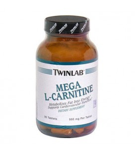 Twinlab Mega L-Carnitine 500mg, 90 Tablets