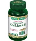 Nature's Bounty Omega-3 Norwegian Cod Liver Oil, 100 Softgel