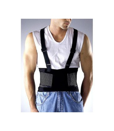 LP Industrial Back Support (Unisex Black), Medium