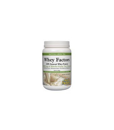 Natural Factors Whey Factors, Matcha Green Tea, 12-Ounce
