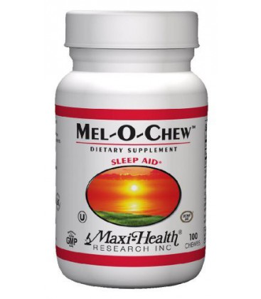 Maxi Mel O Chew excellent sleep aid- 1 mg. melatonin 100 Che