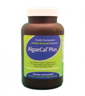 AlgaeCal Plus - Plant Source Calcium Supplement - 90 Veggie Caps