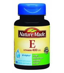 Nature Made Vitamin E 400IU, 100 Softgels (Pack of 3)