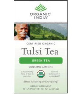 Organic India Tulsi Tea Green - 18 Count bags (Pack of 2)