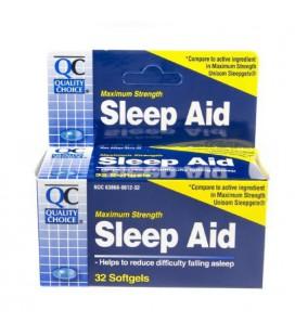 Quality Choice Maximum Strength Sleep Aid Softgels 32 Count,