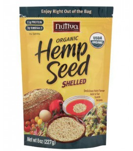 Nutiva Organic Shelled Hempseed, 8-Ounce Pouches (Pack of 3)