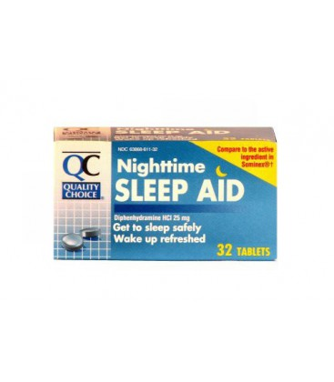 Quality Choice Night Time Sleep Aid Tablets 32 Count,  Boxes