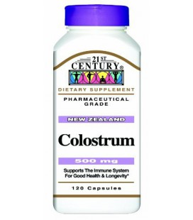 21st Century Colostrum, 500 Mg 120 Capsules