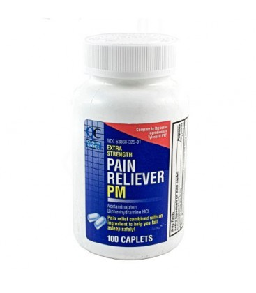 Quality Choice Extra Strength Non-Aspirin PM, Pain Relief/Sl