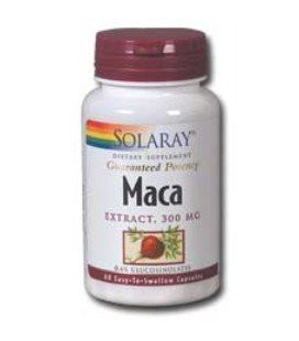 Solaray - Maca Extract, 300mg, 60 capsules