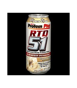 MetRX MET-RX Protein Plus RTD 51 - Creamy Vanilla 51gr protein RTD, 15-Ounce (Pack of 12)