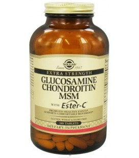 Extra Strength Glucosamine Chondroitin MSM with Ester C 180 Tablet