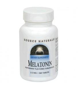 Source Naturals Melatonin 2.5mg, Peppermint, 240 Tablets