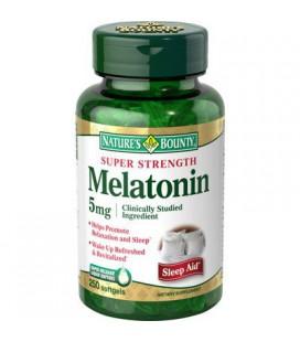 Nature's Bounty Melatonin 5 mg - 250 Softgels