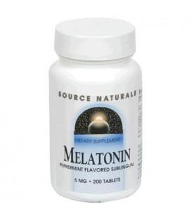 Source Naturals Melatonin 5 mg, Peppermint, 200 Tablets
