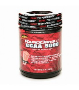 GNC Pro Performance RapidDrive BCAA 5000, Fruit Punch, 12.32 oz