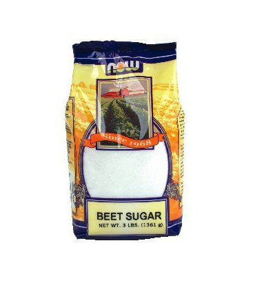 Now Foods Beet Sugar, 3-Pound (Pack of 2)