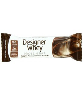 Designer Whey Protein Bar, Triple Chocolate Crunch,1.41 Ounce (Pack of 12)
