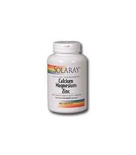 Solaray - Calcium Magnesium Zinc, 250 capsules