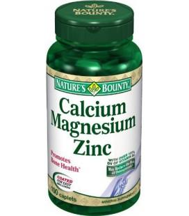 Nature's Bounty Calcium-magnesium-zinc Caplets, 100-Count