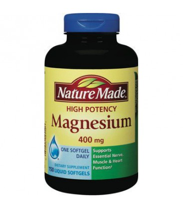 Nature Made High Potency Magnesium 400 mg - 150 Liquid Softg