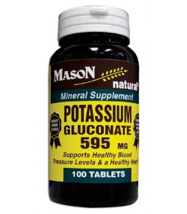 Mason Vitamins Potassium Gluconate 595Mg Tablets, 100-Count