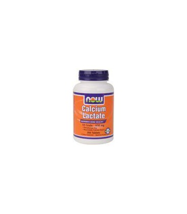 Now Foods Calcium Lactate Tablets, 10 Grain - 650mg, 250-Count