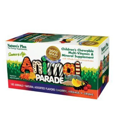 Nature's Plus - Animal Parade Cherry/Oran/Grape, 180 chewabl