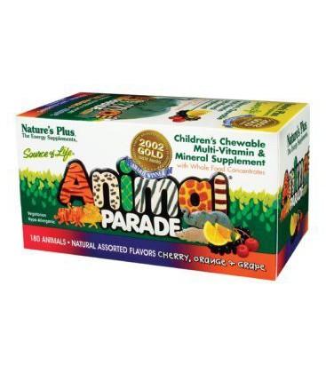Nature's Plus - Animal Parade Cherry/Oran/Grape, 180 chewabl