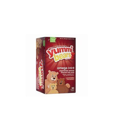 Yummi Bears Omega 3-6-9, 90-Count Gummy Bears for Children