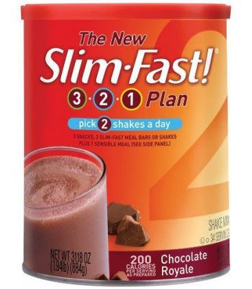Slim Fast 3-2-1 Plan (Formerly Optima) Chocolate Royale Shak