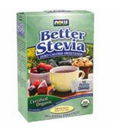 Now Foods Organic Stevia Packets, 100-Count