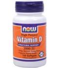 NOW Foods Vitamin D-3, 2,000 IU, 120 Softgels